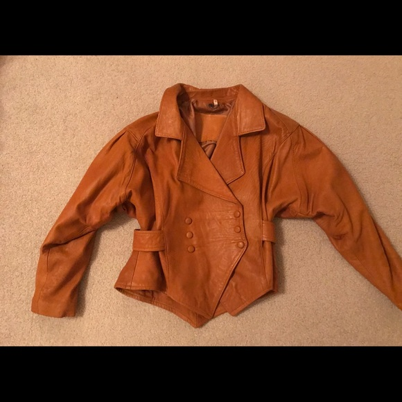 Sardar London Vintage rust color leather jacket